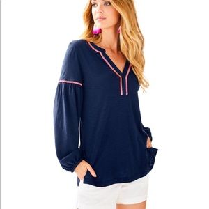 🌴 Lilly Pulitzer Kalissa Tunic Navy Top